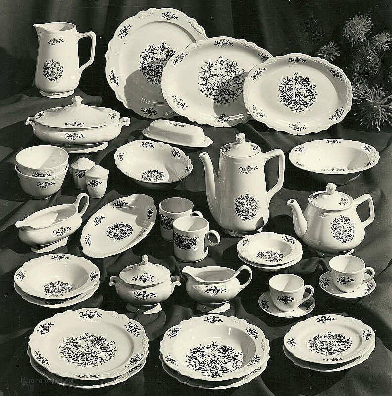 Full Dresden assortment treatment VR-458. & Dresden by the Homer Laughlin China Company