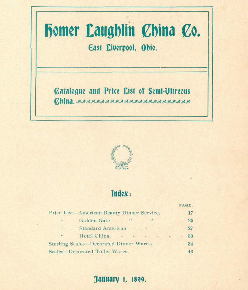 1899 Homer Laughlin Catalog