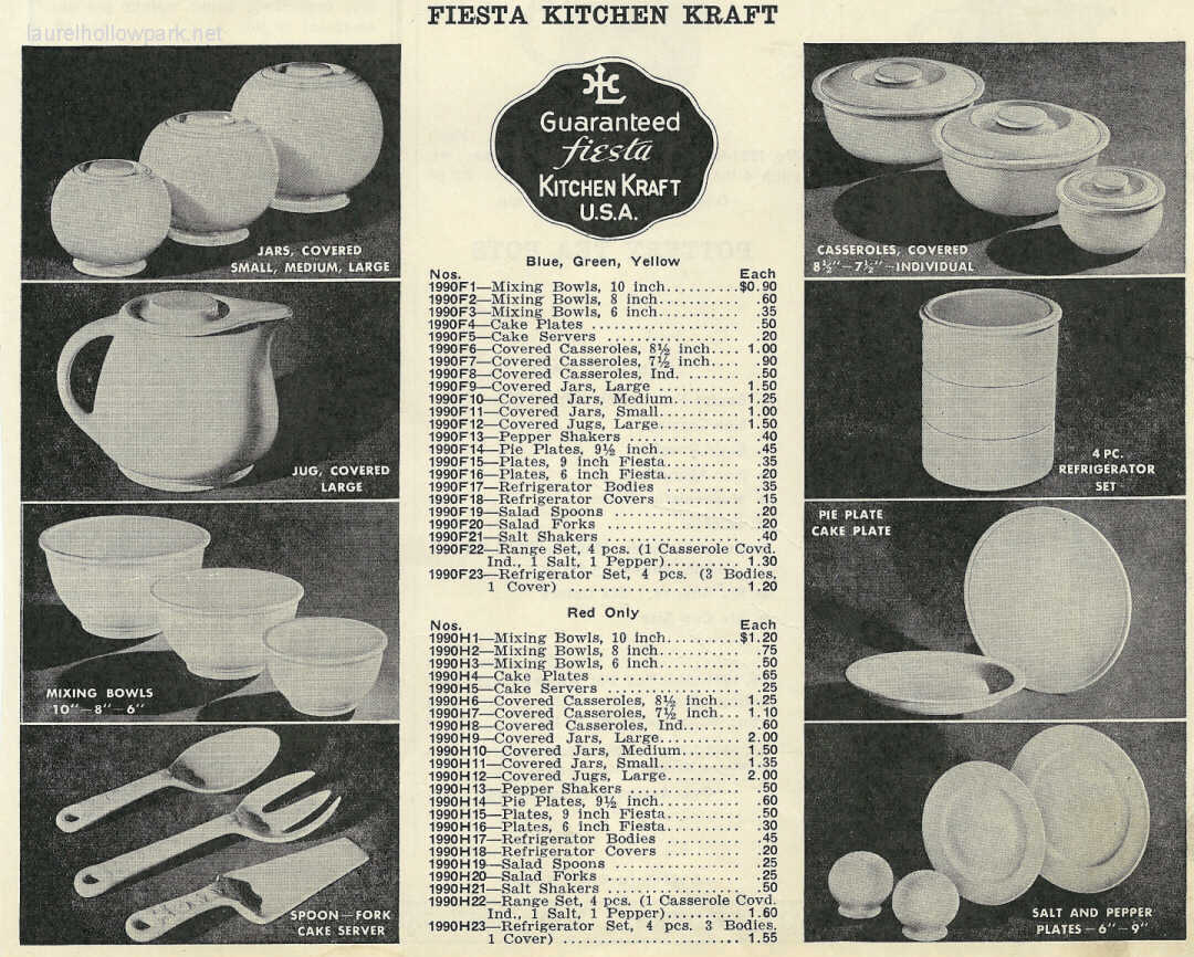 Late 1930s Advertisement For Kitchen Kraft In Fiesta Glazes.