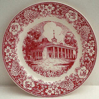 Early American Homes Mt. Vernon 9  plate & Willow u0026 Americana by the Homer Laughlin China Company