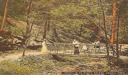 Laurel Hollow Park Vintage Postcards Newell West Virginia